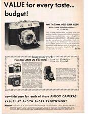 1954 Ansco Super Regent Rangefinder Camera Vtg Print Ad