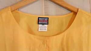 Cherokee Workwear Womens 5XL Yellow Warm Up Snap Front Scrub Jacket NEW