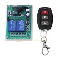 DC 12V 10A 2CH RF Wireless Remote Control Switch Transmitter Channel Controller