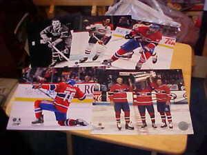 (5) Montreal Canadiens Licensed 8x10 Photos Package Richard Beliveau LaFleur