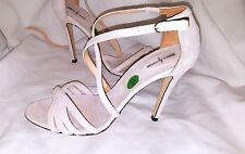 LIGHT PINK SUEDE SANDALS REBECA SANVER HIGH HEELS SIZE UK6.5 EU40 SHOES FORMAL