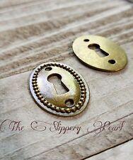 Keyhole Pendant Connector Antique Bronze Tone Steampunk Lock Charm Oval