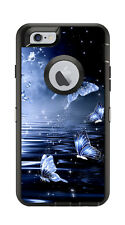 Skin Decal Wrap for Iphone 6 6S Otterbox Defender Case Glowing Butterflies Motif