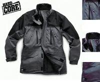 HARDCORE By SCRUFFS WATERPROOF WORK JACKET M-XXL GREY BLACK RAIN COAT