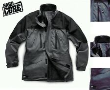 HARDCORE By SCRUFFS WATERPROOF WORK JACKET M-XXL GREY BLACK RAIN COAT