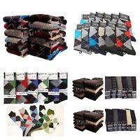 6 12 PACK Men's Dress Socks Argyle Solid Pattern Geometric Design Lot 9-11 10-13
