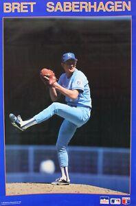 Vintage 1987 BRET SABERHAGEN 34 x 22 Kansas City Royals Starline Poster RARE