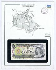 CANADA $1 NOTE PICK # 85c ELIZABETH II STAMPED WINDOWED ENVELOPE with MAP & INFO