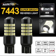 2X AUXITO 204 SMD 7443 7440 W21W LED Backup Bulb Lamp Reverse Light 6000K 2800LM