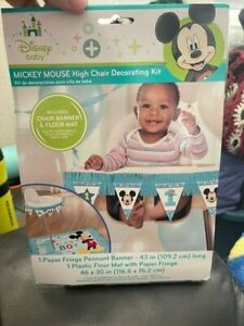 Disney Baby Mickey Mouse 1st Birthday Party High Chair Decorating Kit New!!!