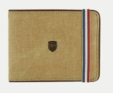 S.T. Dupont Beige & Cognac, 6 Credit Card Leather Wallet, 190300, New In Box