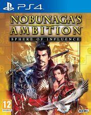 PS4 JUEGO nobunaga's Ambition Sphere Of influencia Producto NUEVO