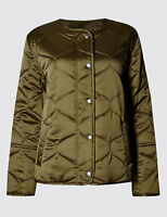 M&S Limited Edition Satin Quilted Light Padded Jacket RRP £69