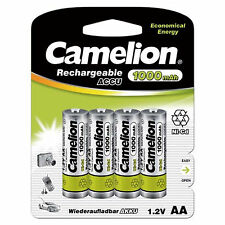 AA Rechargeable Batteries 1000mAh NiCD 1.2V 4pk / BUY 3 GET 1 FREE /  Camelion