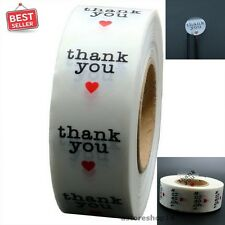 Thank You Stickers 1 Inch Round 1,000 Adhesive Label Per Roll Craft Stick Circle