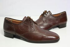vintage Bill Blass leather wing-tip shoes 9.5 new brown oxfords made in italy