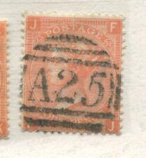 GB Used Abroad 1865 4d vermilion Plate 14 FJ struck by a Malta numeral A25