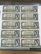 50  fifty  1954 $20 Dollar Bank of Canada note Devil's face wow