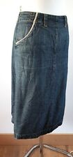 White Stuff WS Denim Troupe A Line Denim Skirt Medium Wash 100% cotton UK 12