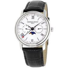 Frederique Constant Men's FC-270SW4P6 Classics 40mm Silver Dial Leather Watch