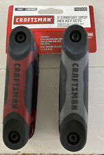 CRAFTMAN 2 Fold Up Hex Key Sets 46006 Comfort Grip 9 In 1