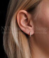 14K Yellow Gold Round Cut Vvs1 0.50Ct Created Diamond Huggie Hoop Earrings