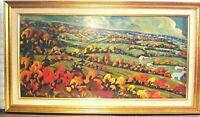 Original Vintage Oil Painting on Board Signed Landscape Impressionist