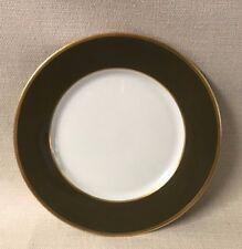 "Legle Limoges France Sous Le Soleil Porcelain 10"" Dinner Plate  Khaki Kaki Gold"