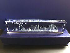 London Skyline 3D Laser Cut Crystal Glass British Christmas Souvenir in Gift Box