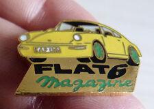 PIN'S VOITURE PORSCHE 911 FLAT 6 MAGAZINE EGF