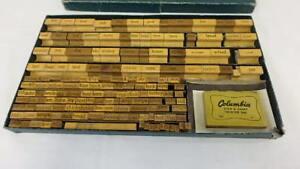 Vintage Wood Stamp Print Ink Set Beckley - Cardy Co. Chart Printer Set