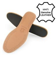 Genuine Leather Shoe Insoles Unisex Active Carbon Inner Sole Boots All sizes New