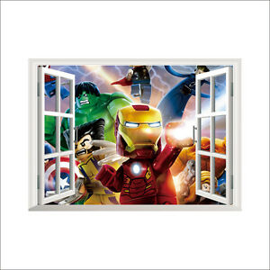 Lego Iron Man Avengers Window wall sticker brand new