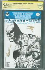 Justice League America 1 CBCS SS 9.8 2X Comics Pro Sketch Variant up CGC Movie