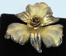 Gorgeous Vintage Bond Boyd Sterling Gold Tone Flower Brooch