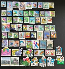 Japan Nice Lot Of 69 Different 1990's Japanese Stamps Some Better Issues