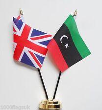 United Kingdom & Libya Friendship Table Flag Set