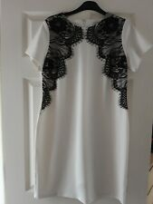 New  Ladies dress  Cream with black lace detail  size 14 by definitions