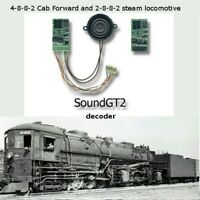 4-8-8-2 Cab Forward and some mallet steam locomotive  SoundGT2.1 DCC decoder