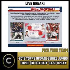 2019 TOPPS UPDATE серия Jumbo 3 коробка половина чехол разрыва #A593 — выбирайте свою команду