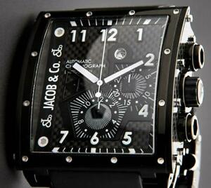 JACOB & Co. Epic I Chronograph Limited 1800 Automatic Stainless Black Watch