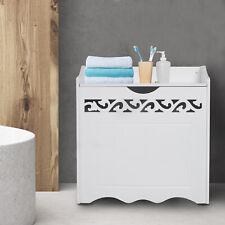 HOMCOM Laundry Basket Bin Storage Trunk w/ Lid Bedroom Wood Storage White