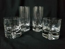 Block Crystal 2 Highball 2 Old Fashioned Glasses Karlstadt Air Bubble Base Set 4