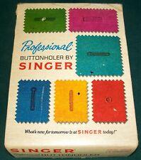 Vintage 1973 Professional Buttonholer by Singer - V102878