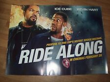 Ride Along original Cinema quad poster DS  FULL SIZE Ice Cube Kevin Hart