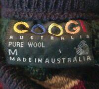 Pure Wool Vintage Coogi Australia sweater Size M