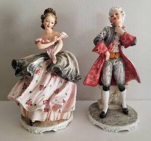Vintage Mollica Italian Porcelain Man Woman Statue Figurine Capodimonte Italy