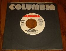 CHICAGO ORIGINAL PROMO 45 RPM ANOTHER RAINY DAY IN NEW YORK CITY 1976