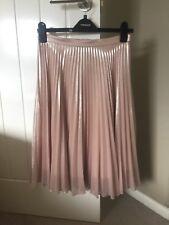 Women's Gold TOPSHOP plissé jupe-Taille 10