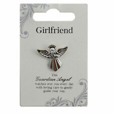 Girlfriend Silver Coloured Angel Pin With Gem Stone Sentimental Gift Idea